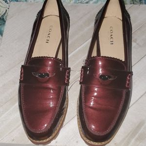 Coach (Indie) Size 5.5 B Dark Red Patent Leather